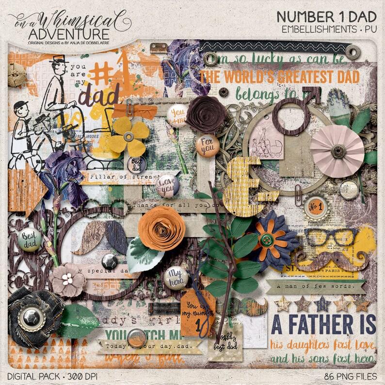 Father's Day Digital Clip Art Digital Scrapbook image 0