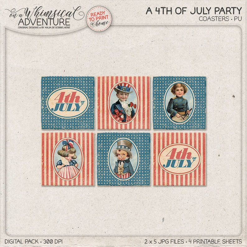 photo regarding Printable Coasters named Printable Coasters, 4x4, 4th Of July, Superstars And Stripes, Purple White Blue, Printable Occasion Elements, Immediate Down load, Common Americana