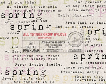 Classic Poetry Quotes, Spring Themed Literature, Erin Hanson, Emily Dickinson Poem, Charlotte Brönte, Typewriter Quotes On Spring, Word Art