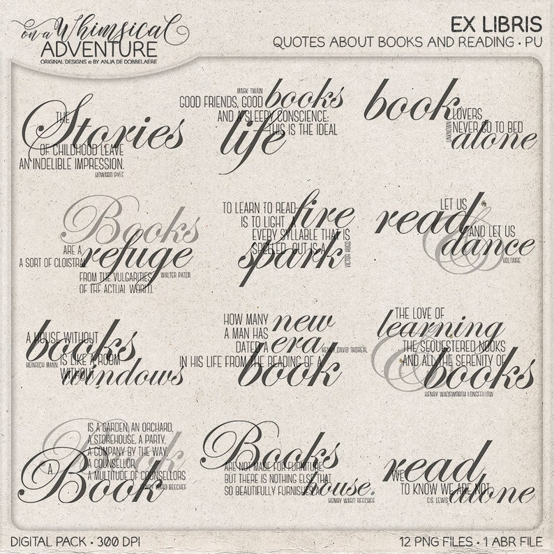 To Read Ex Libris Reading Quotes Book Lover Gift Bookworm image 0