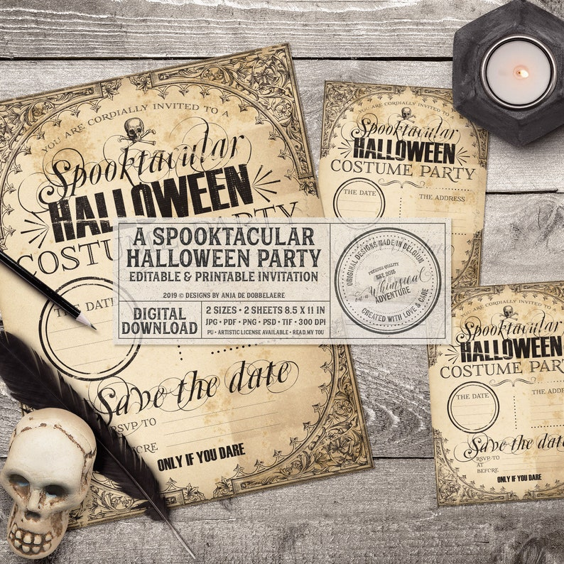 Halloween Costume Party Printables Instant Download Party image 0