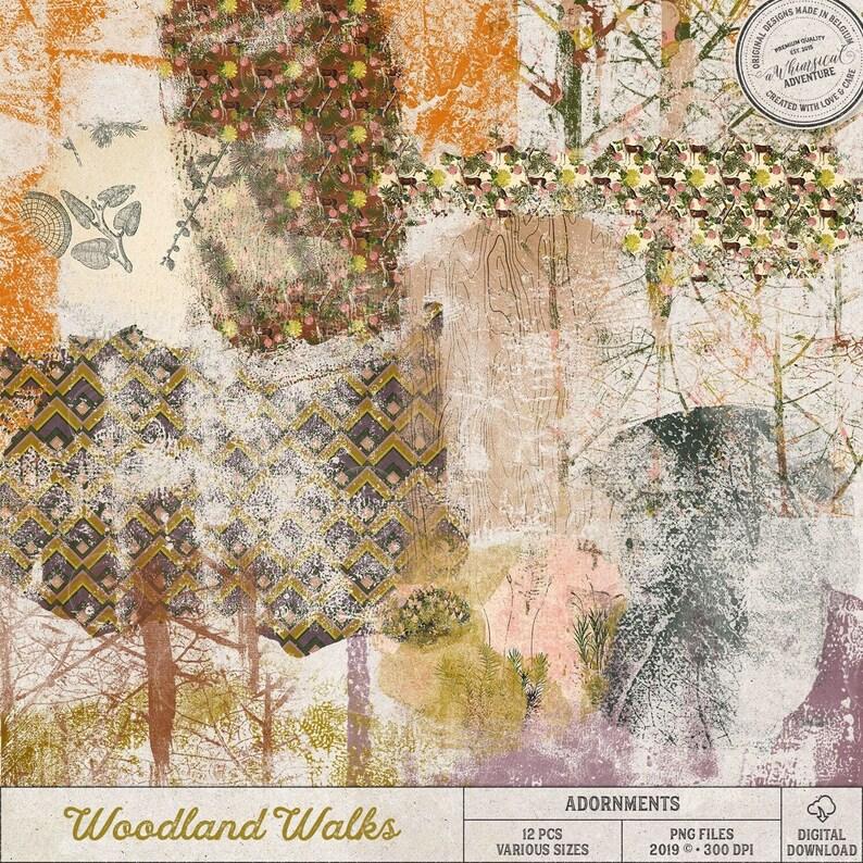 Woodland Overlays Photoshop Autumn Clip Art Fall Botanical image 0