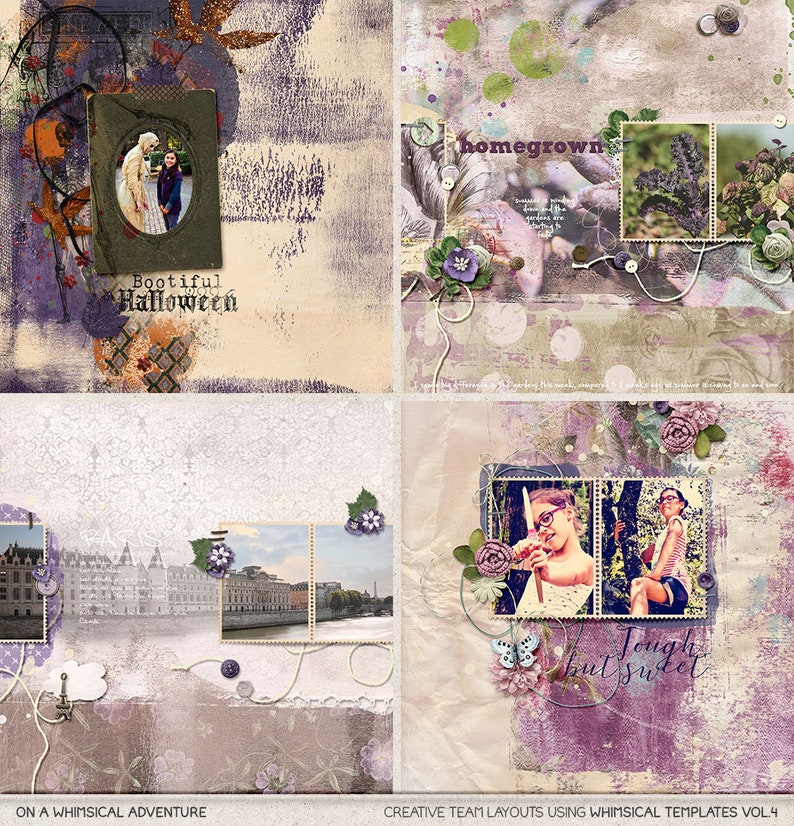 Unique Layouts Photo Book Photo Mask Digital Scrapbooking Template Clipping Mask Ready For Use Album Templates Custom Scrapbook Pages