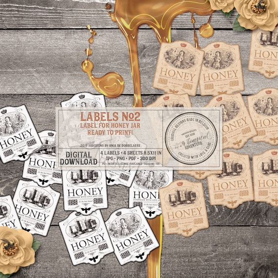 graphic about Honey Jar Labels Printable referred to as Honey Jar Labels, Printable Collage Sheets, Home made Present, Social gathering Desire, The Bees Knees, Quick Obtain