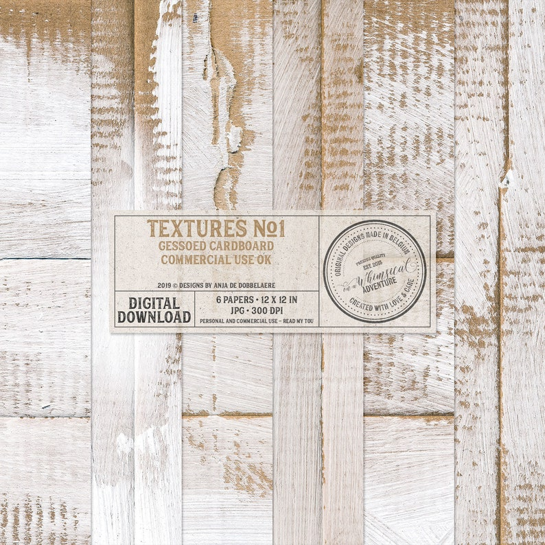 Gesso Paper Gessoed Cardboard Backgrounds Digital Papers image 0