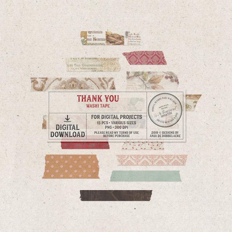 Washi Tape Set Instant Download Digital Scrapbooking image 0