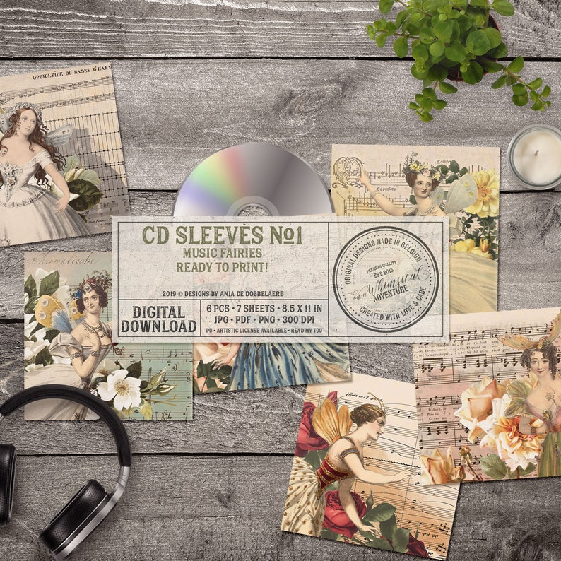 picture relating to Printable Cd Sleeves identified as CD Sleeves, Printable DVD Sleeve Template, Sheet New music, Fairies And Bouquets, Smooth Grunge, Family members Pictures, For Audio Admirers, Fast Down load