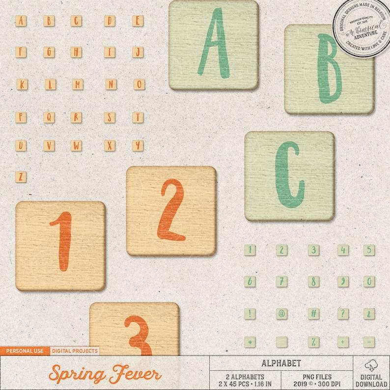 Alphabet Clip Art Scrabble Tiles Wood Letters Wooden image 0