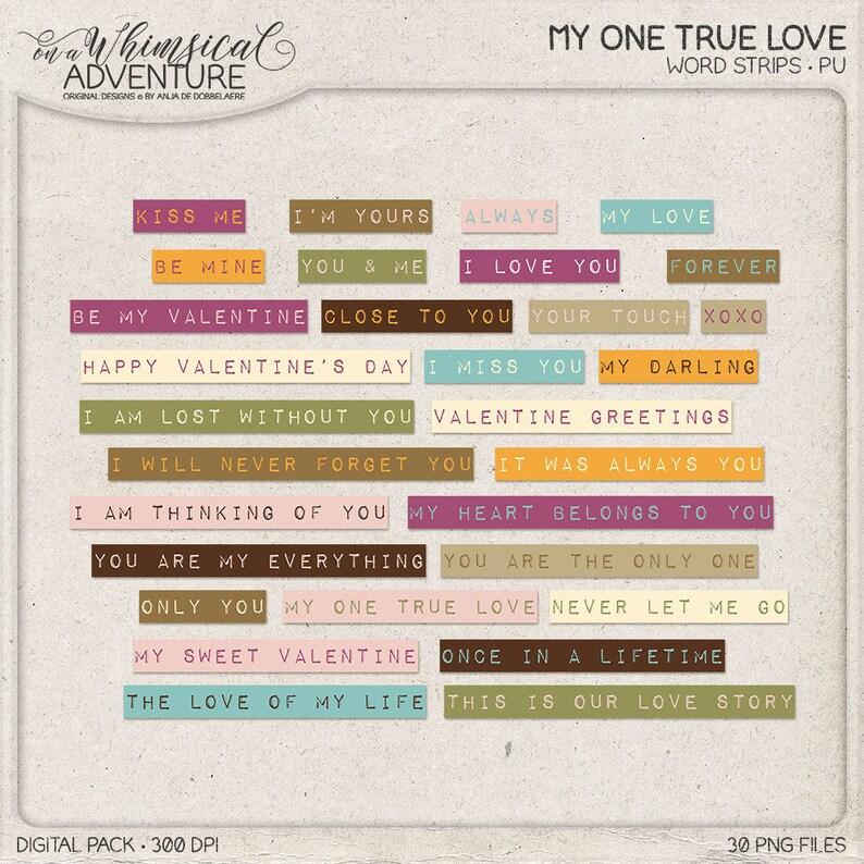 Romantic Messages Dymo Tape Labels Word Clip Art Valentine image 0