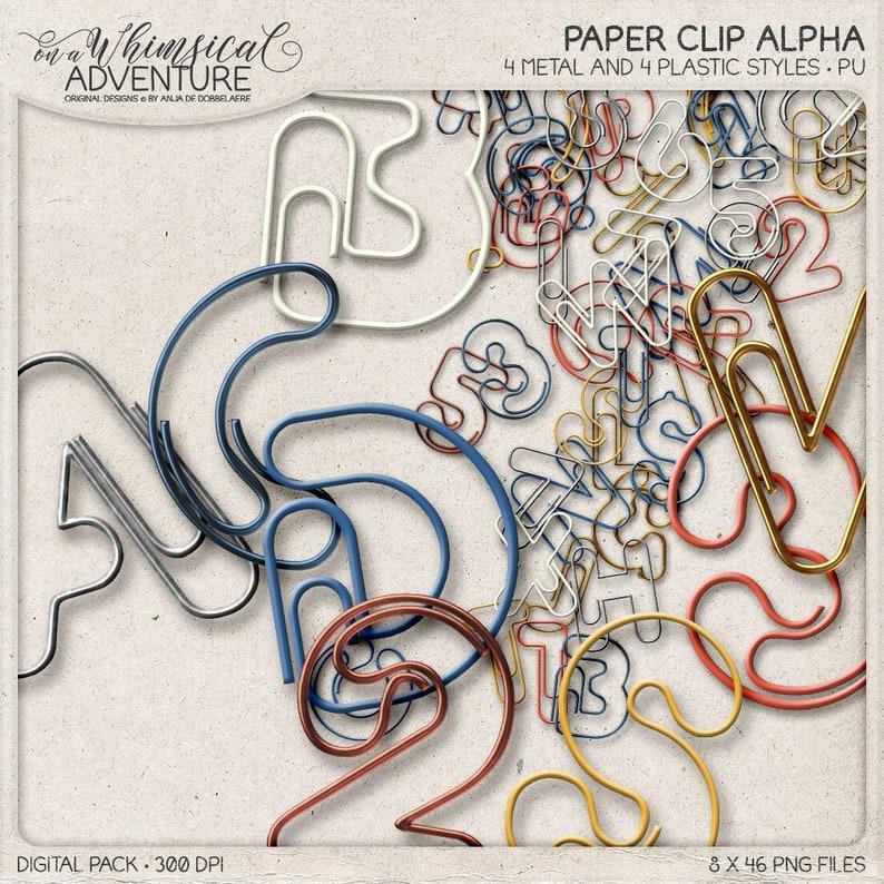 Metallic Alphabet Letters Digital Paperclip Alpha Pack image 0