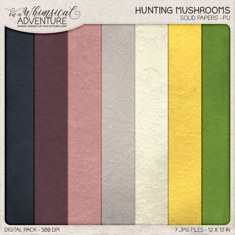 Best Value Vintage Botanical Digital Scrapbooking, In The Woods Growing Mushrooms Fall Gifts Autumn Clipart Fall Decor Package Deal