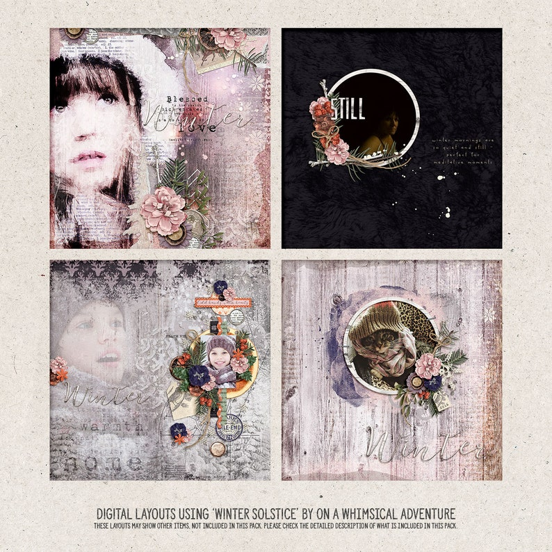 Yule Rituals Winter Wonderland Rustic Christmas Ideas Instant Download Christmas Scrapbook Album Winter Solstice Nature Inspired