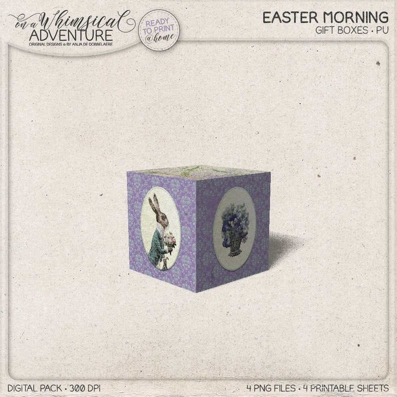 DIY Treat Box Spring Easter Decoration Easter Bunny Box image 0