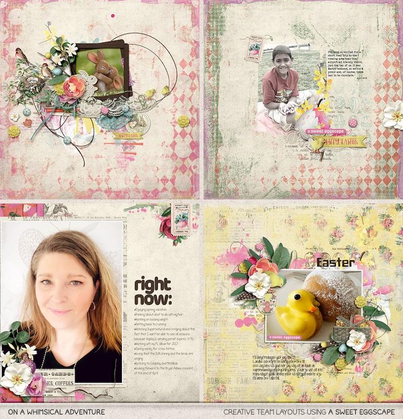 Vintage Style Pastel Colors Clip Art Images Happy Easter Instant Download For Spring Clip Art Bunnies Digital Scrapbooking Egg Hunt