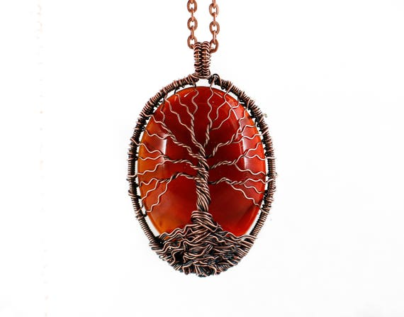 Carnelian Tree of Life Pendant