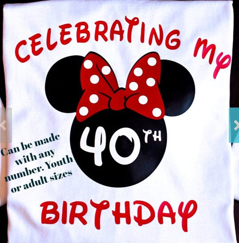 eef8a8446 Disney Birthday Shirt Disney Birthday shirts Minnie Birthday | Etsy