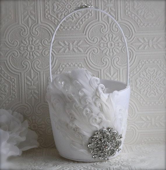 Flower Girl Basket Wedding Basket Wedding Decoration Etsy