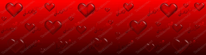 Valentines Day Banner Background Red With Hearts And Love Eps 10 Vector Illustration With Transparency And Gradient Meshes Jpg Hq