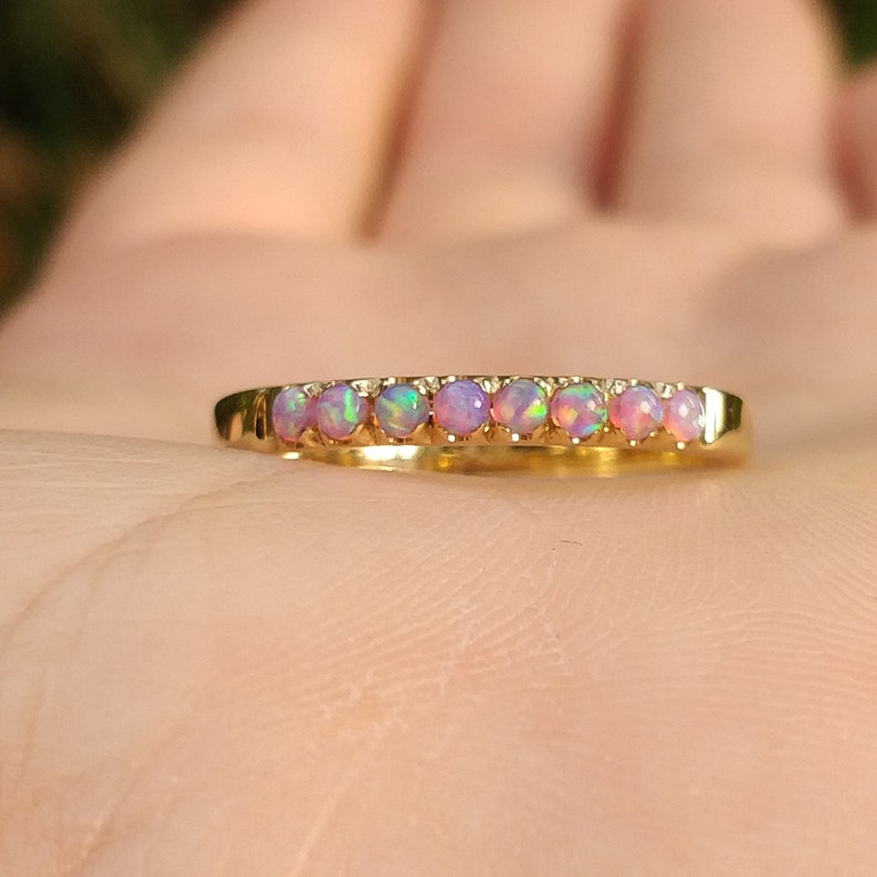 Opal ring engagement opal ring fire opal gold ring