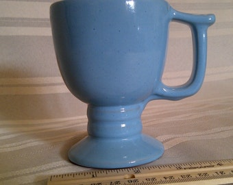 Frankoma Pedestal Mug C13. Robins Egg Blue Coffee Mug, Coffee Cup, Frankoma Cup
