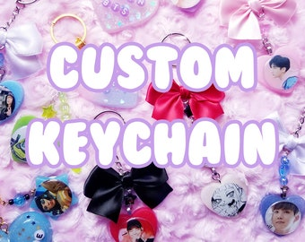 Custom Keychain [Resin Charms | Kpop, Anime, Video Games]