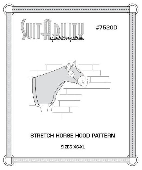 PDF Strecken Pferd Hood Muster