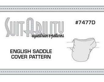 PDF English Saddle Cover Pattern