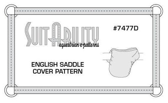 Pdf english saddle cover pattern etsy image 0 ccuart Choice Image