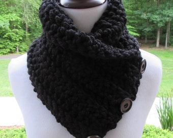 Button Cowl PATTERN, Crochet PDF Pattern, Boston Harbor Scarf, Gift for Her, Easy Pattern, Winter Accessory, Crochet Scarf, Pattern ONLY