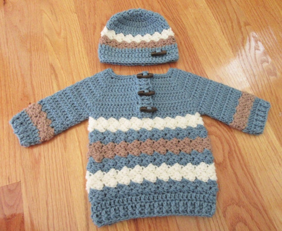 2c7023ec9 Baby Sweater and Hat Crochet Baby Sweater Infant Set Baby | Etsy