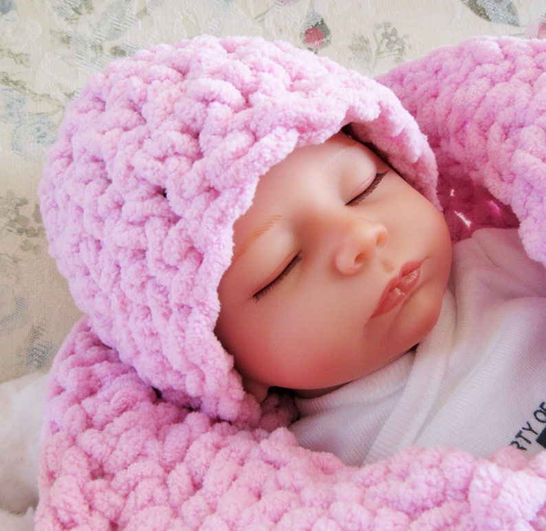 Newborn Baby Infant Cocoon Sack Swaddle Sleeping Bag Blanket Cap Hat Wrap Props