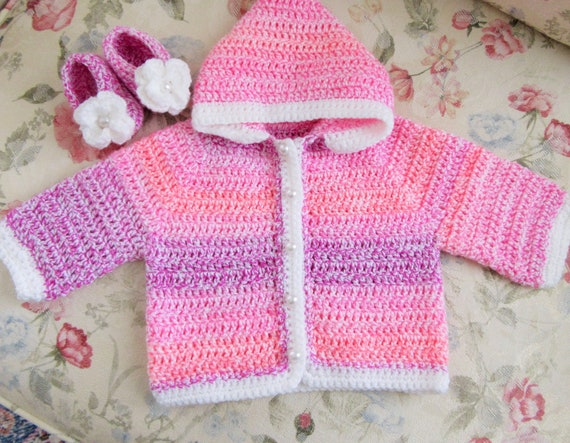 7d334a4b65b7 Baby Hoodie Crochet Baby Outfit Baby Girl Gift Baby Jacket