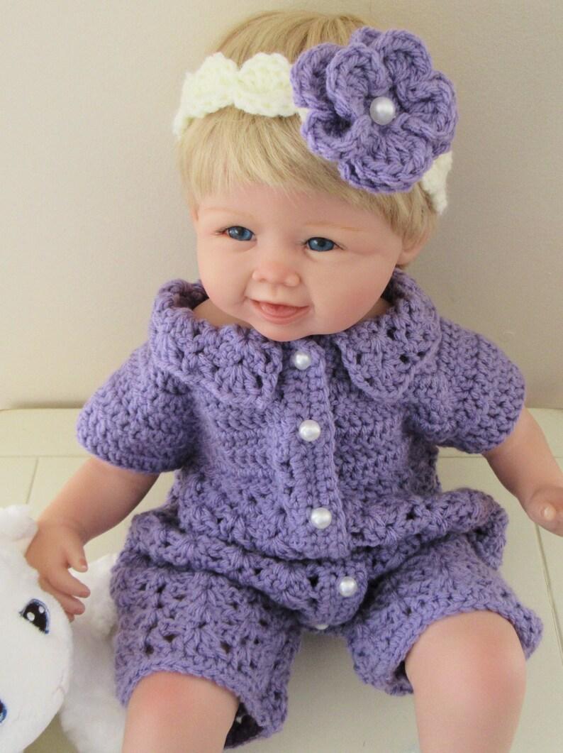 1e3d91448e27 Baby Romper Set Crochet Baby Onesie Baby Jumper Infant