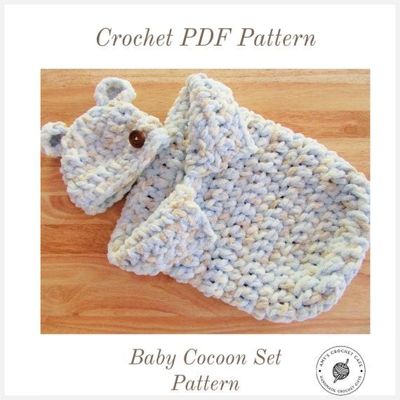 11 Crochet Baby Cocoon Patterns | AllFreeCrochet.com | 570x570