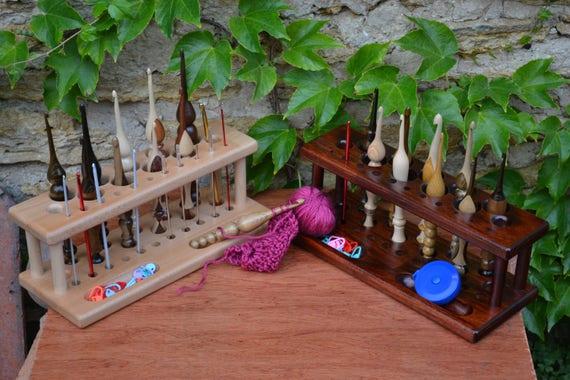 Handmade Wooden Crochet Hook Caddy Crochet Hook Holder Etsy