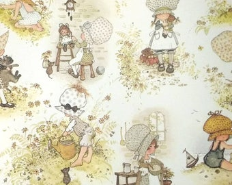 """Holly Hobbie Wrapping Paper Gift Wrap Childrens Present Cats Babies Neutral Colors 30""""x20"""""""