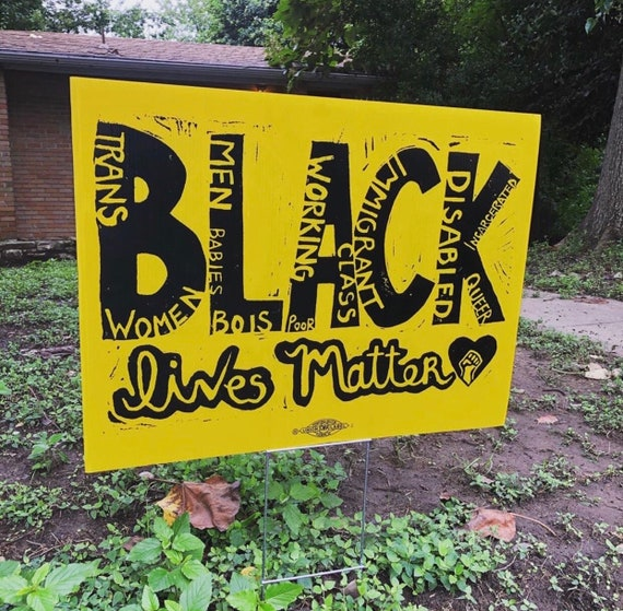 18x12 Inch ALL LIVES MATTER Yard Sign with Stake kb1s