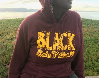 Special Edition 'All BLM' Hoodie (Currant Red)