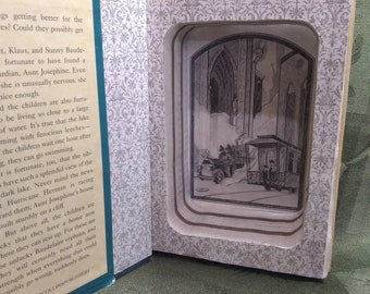 """3-in-1 Hollow Book Safe with optional Magnetic Lock ~ """"A Series of Unfortunate Events: Vol 1-3"""""""