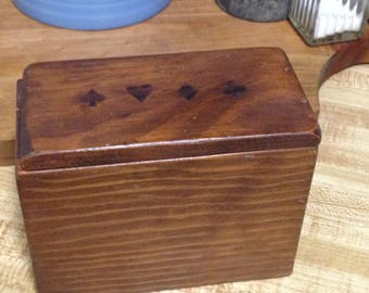 Wood Playing Card Storage Box