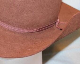"""Vintage Biltmore Men's Buffalo Brown """"Standoff"""" Western Fur Felt  Hat Size 7 1/4 58cm"""