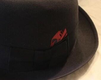 f445788086f Vintage Black New Yorker Fedora Trilby Dress Hat Size 7 1 8