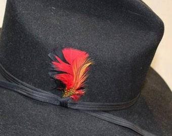 8d7c096cbce28 Vintage Shepler s Dynafelt Black Fur Felt Western Men s Cowboy Hat Size 7  1 8 57cm
