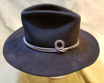 32e72f703ad2e Resistol Chaparall Cowboy 4X Beaver Fur Felt Black Western Hat 7 3 8 (59  cm) Long Oval Self Conforming