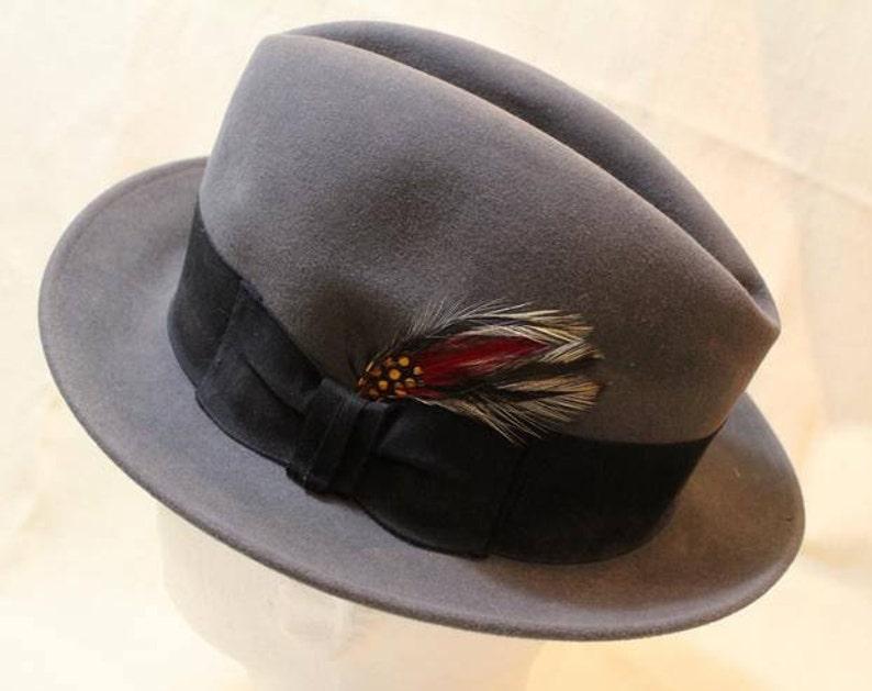 4350817430c Vintage Harry Levinson Men s Dark Gray Fedora Dress Hat