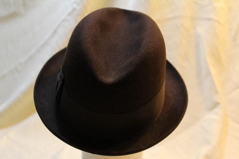 3764fcf878f99 Vintage Black Adam Harvard 40 Trilby Homburg