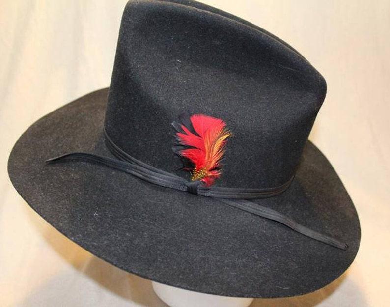 398480665733c Vintage Shepler s Dynafelt Black Fur Felt Western