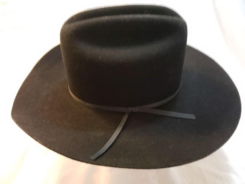 c98648fee Vintage Charlie 1 Horse Black Wool Felt Western Men's Cowboy Hat Size 7 1/8  57cm