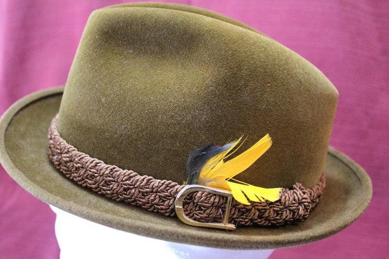 24fcbd0e607 Vintage Biltmore Velurin Olive Velour Fedora Trilby