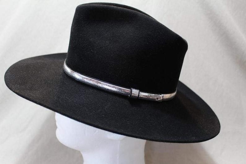 Resistol Ambush 4X Beaver Fur Felt Black Western Hat 6 7 8  4ba2e4aaba02